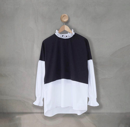 Talsi Top Black White