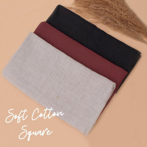 Soft Cotton Square Scarf