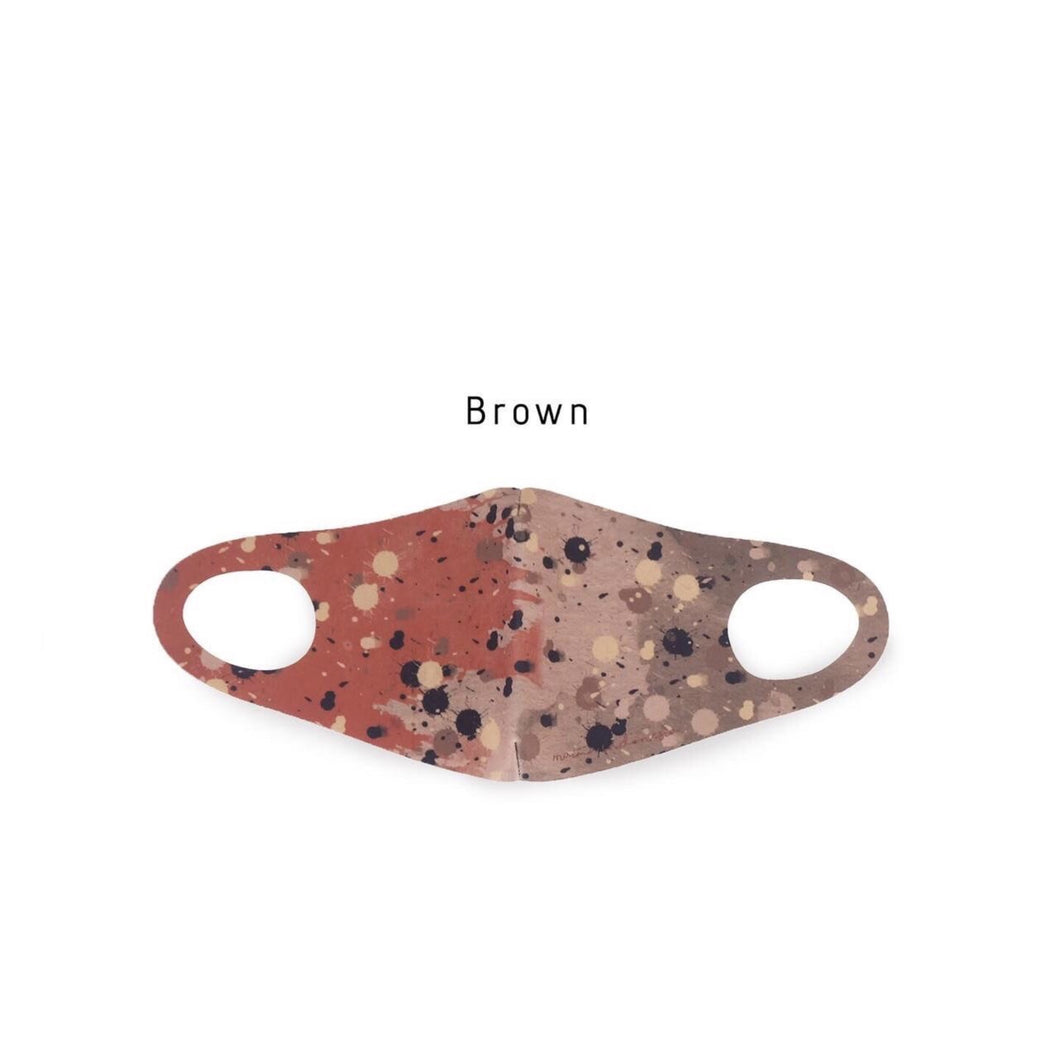 Masker Scuba Printed Stained Brown