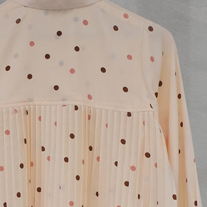 Zae Top Polka (Pleats) Ivory