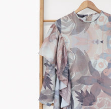 Load image into Gallery viewer, Mizu Tunic Printed Blossom Series Brown Latte