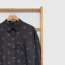 Load image into Gallery viewer, Nome Top Printed (oversize top) Fruit & Floret -cherry- Black Cherry