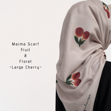 Load image into Gallery viewer, Maima Scarf Fruit & Floret Vol. 1 -Large Cherry- Dusty Cherry