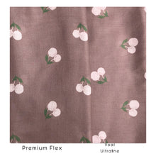 Load image into Gallery viewer, Maima Scarf Freshness Series Fruit & Floret -Pastel Cherry- Brown