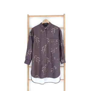 Nome Top Printed (oversize top) Floret Series Smoke