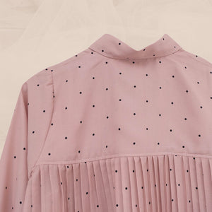 Zae Top Polka (Pleats) Dusty Rose