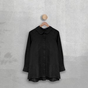 Fozi Top ( Pleats ) Black