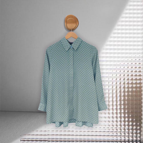 Zae Top Polka (Pleats) Teal