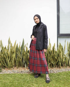 Pleated Skirt -Tartan Series- Red Tartan