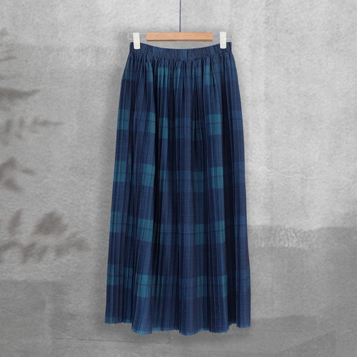 Pleated Skirt -Tartan Series- Dark Green Tartan