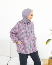 Load image into Gallery viewer, Lite Printed Jacket - Grey Pink - Houndstooth Series