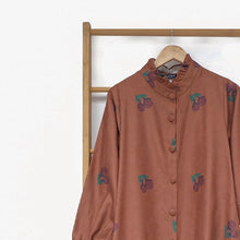 Load image into Gallery viewer, Flotte Long Outer / Tunic Printed Fruit & Floret - large cherry- Terracotta Cherry