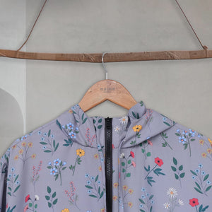Lite Printed Jacket - Grey Fleur - Fleur Series