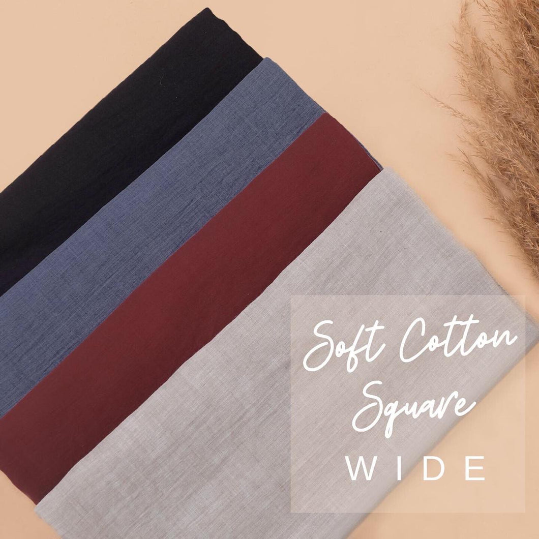 Soft Cotton Square Wide Scarf