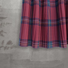 Load image into Gallery viewer, Pleated Skirt -Tartan Series- Red Tartan