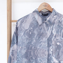Load image into Gallery viewer, Nome Top Printed (oversize top) Marble Grey