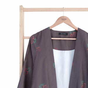 Luza Outer Printed -Large Cherry- Smoke Cherry