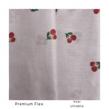 Load image into Gallery viewer, Maima Scarf Freshness Series Fruit & Floret -List Cherry- Dusty Cherry