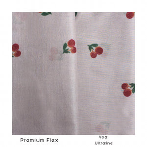 Maima Scarf Freshness Series Fruit & Floret -List Cherry- Dusty Cherry