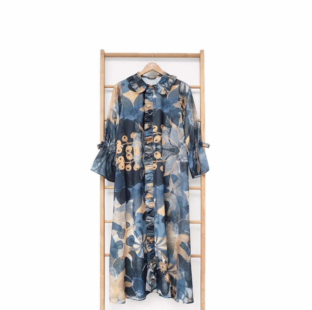 Rolla Dress Printed Blossom Series Navy