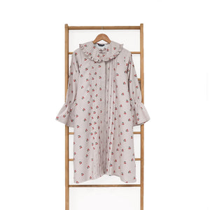 Cerra Tunic Printed Fruit & Floret -cherry- Dusty Cherry