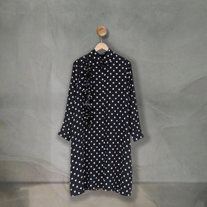 Bylla Tunic Pleats Large Polka Black