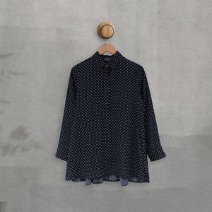 Zae Top Small Polka Black