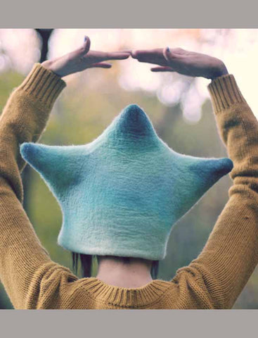 Felted Hat Aqua Star