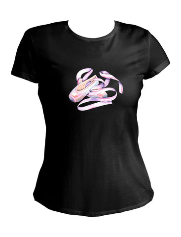 The Punk Ballerina Collection Women's T-Shirt Pointe Shoe