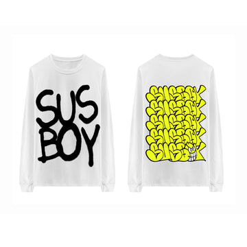 Sus Boy Cappin' Longsleeve - White