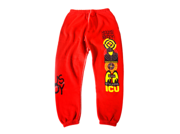 Sus Boy Targeted Individual Sweatpants - Red