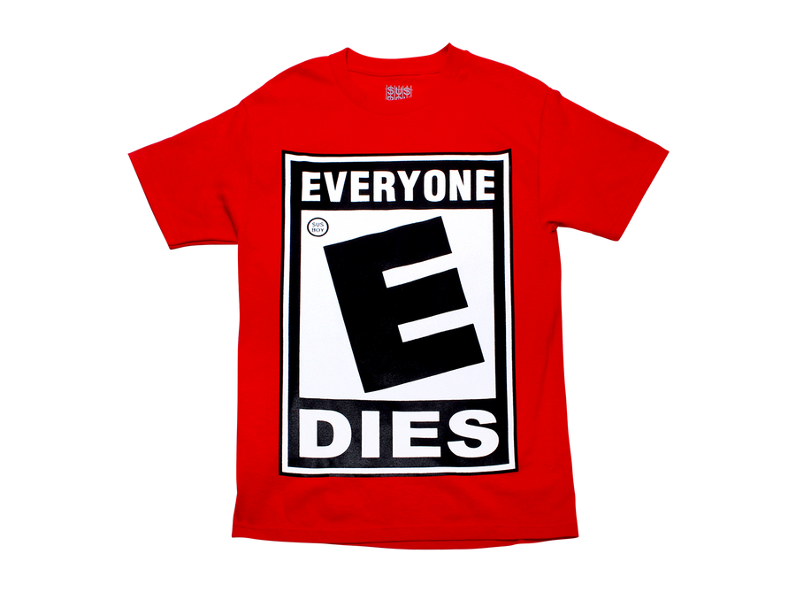 Everybody Dies Tee - Red