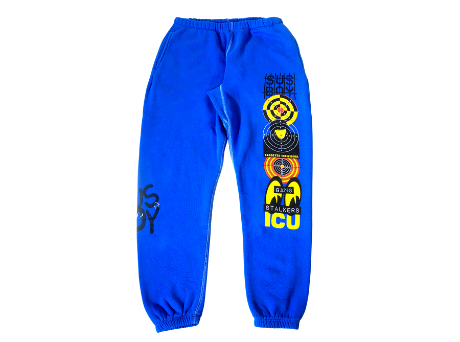 Sus Boy Targeted Individual Sweatpants - Blue