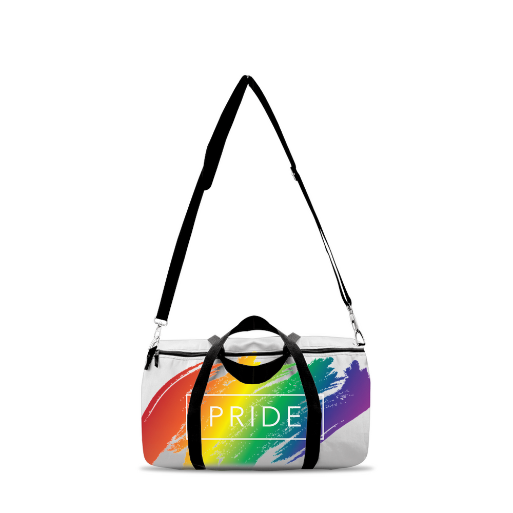 rainbow pride duffle bags - above the curve;