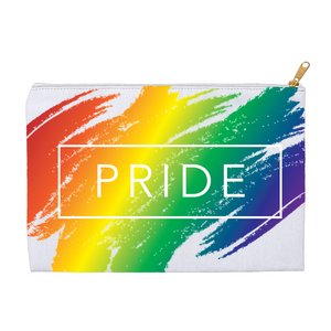 Load image into Gallery viewer, rainbow pride accessory pouches - above the curve;