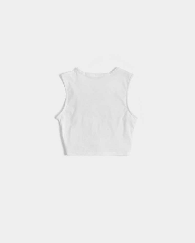 love wins women's twisted cropped tank - above the curve;