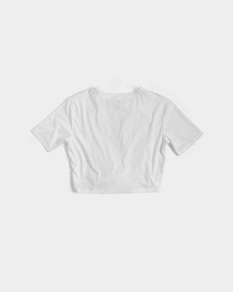 trans love women's twist-front cropped tee - above the curve;