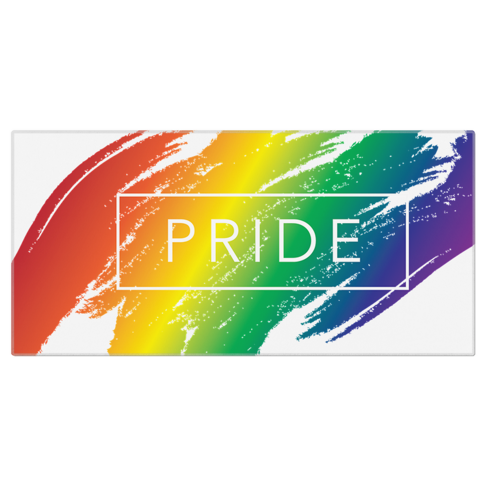 Load image into Gallery viewer, rainbow pride beach towels - above the curve;