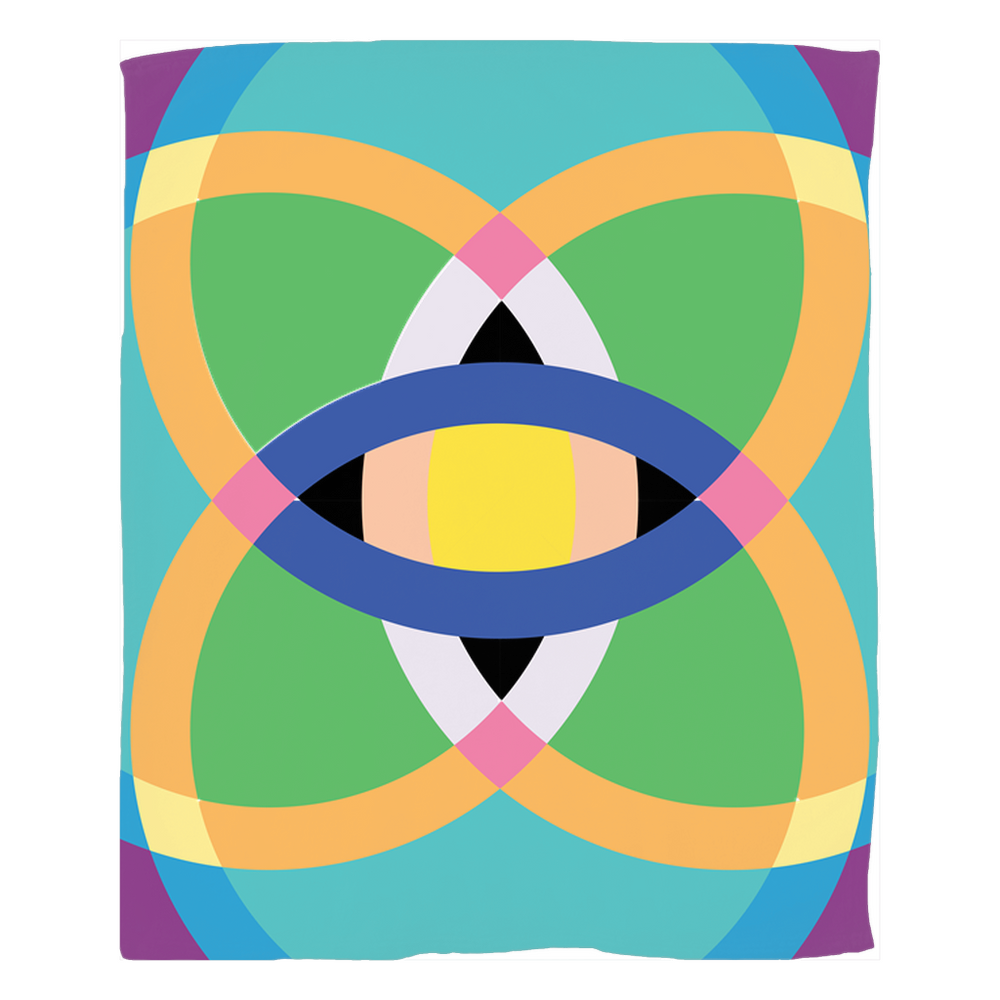 Load image into Gallery viewer, mandala 2.0 fleece blankets - above the curve;