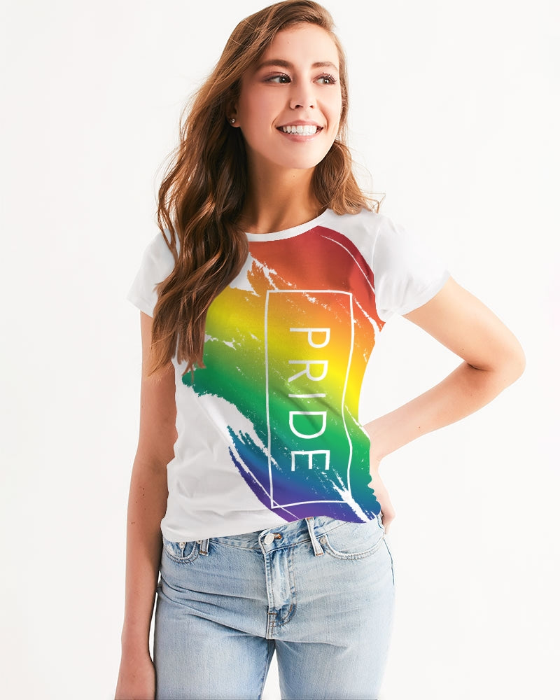 rainbow pride women's tee