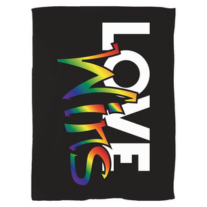 Load image into Gallery viewer, love wins fleece blanket - above the curve;
