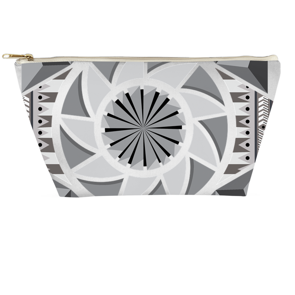 aztec kaleidoscope accessory pouches - above the curve;