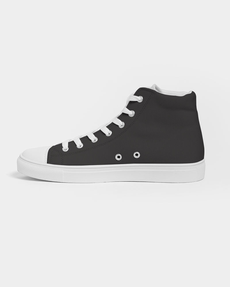 love wins women's hightop canvas shoe - above the curve;