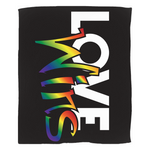 love wins fleece blanket