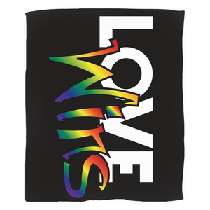 love wins fleece blanket - above the curve;