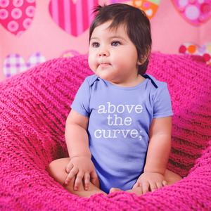atc; baby one-piece bodysuit - above the curve;