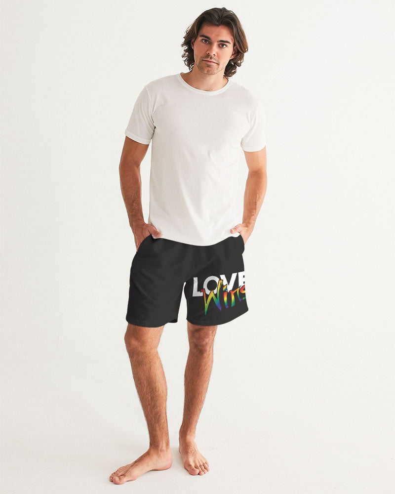 love wins Men's Swim Trunk - above the curve;
