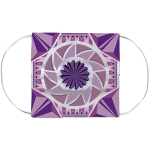 aztec kaleidoscope face mask covers - above the curve;