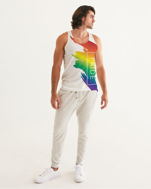 rainbow pride men's tank - above the curve;