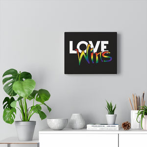 love wins canvas gallery wraps - above the curve;
